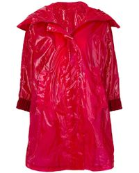 Moncler - Zipped Fitted Coat - Lyst