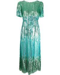 RIXO London Venus スパンコール ドレス - グリーン