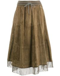 Fabiana Filippi - Fringed Hem Full Skirt - Lyst