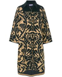 RED Valentino - Printed Wide Sleeve Coat - Lyst