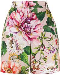 Dolce & Gabbana Shorts mit Blumen-Print - Pink