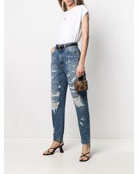 Dolce & Gabbana ダメージ テーパードジーンズ - ブルー