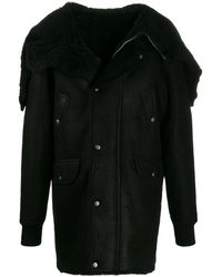Rick Owens Draped Detail Coat - Black