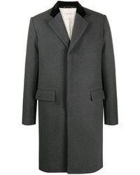 Marni コントラストカラー シングルコート - グレー