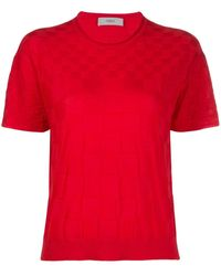 Pringle of Scotland Camiseta ajedrezada de punto - Rosa