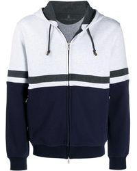 Brunello Cucinelli Zweifarbiges Sweatshirt - Grau