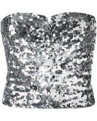 Amen Sequined Strapless Top - Metallic