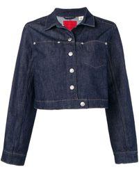 Levi's Cropped Denim Jacket - Blue