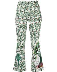 Tsumori Chisato - Pantalones slim con estampado floral - Lyst