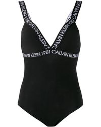 Calvin Klein Body con stampa - Nero