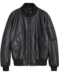 Burberry - Textured Bomber Jacket - Lyst