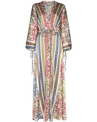 Silvia Tcherassi Robe portefeuille Inagua à taille ceinturée - Blanc