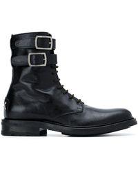Saint Laurent Army Laarzen Met Veters - Zwart