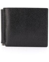 Canali Textured Bi-fold Wallet - Black