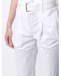 Gentry Portofino Pantalon court à taille haute froncée - Blanc