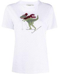 COACH エンブロイダリー Tシャツ - ホワイト