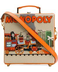 Olympia Le-Tan Clutch Monopoly Train - Naranja