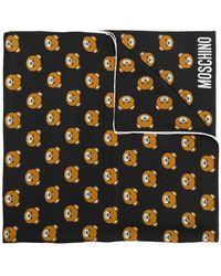 Moschino - Teddy Bear Motif Scarf - Lyst