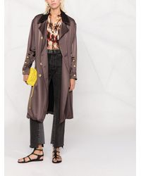 Ports 1961 Wide Lapel Double-breasted Coat - Brown