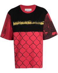 Youths in Balaclava Camiseta con motivo de valla - Rojo