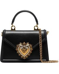 Dolce & Gabbana Mini Devotion Tote - Black