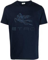 Etro Pegaso ロゴ Tシャツ - ブルー