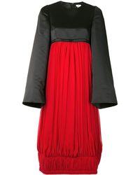 Comme des Garçons カラーブロック ドレス - レッド