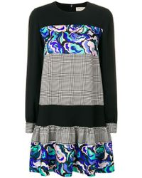 94b1d194053b Emilio Pucci - Mix-printed Flared Dress - Lyst