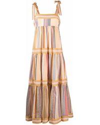 Zimmermann Vestido largo con capas escalonadas - Amarillo