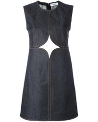 Courreges - Cut-off Detailing Denim Dress - Lyst