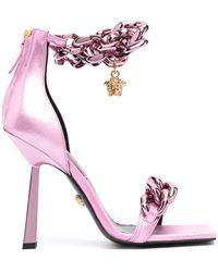 Versace Босоножки С Квадратным Носком И Цепочками - Многоцветный