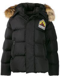 DSquared² Logo Parka Coat - Black