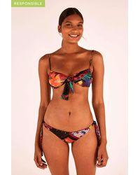 FARM Rio Diagonal Scarves Bikini Bottom - Orange