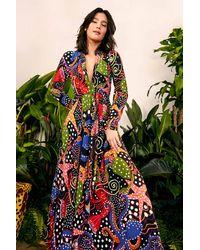 FARM Rio Under The Sea Maxi Dress - Multicolor