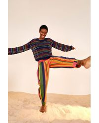 FARM Rio Mixed Stripes Pants - Multicolor