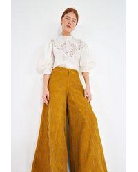 FARM Rio Beaded Corduroy Pants - Multicolor