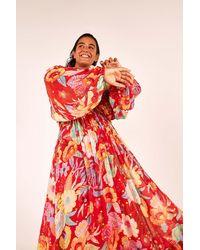FARM Rio Hudson Floral Maxi Dress - Red