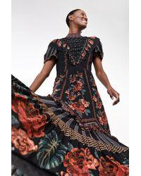 FARM Rio Floral Maxi Dress - Black