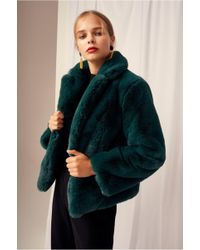 Keepsake Stay With Me Fur Coat - Green