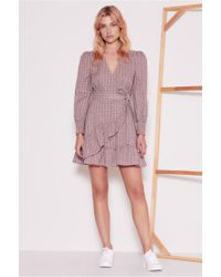 The Fifth Label - Collegiate Check Wrap Dress - Lyst