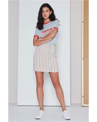 The Fifth Label - Axial Stripe Skirt - Lyst