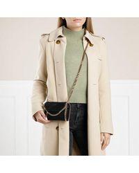 Stella McCartney Mini Falabella Crossbody Bag Shaggy Deer - Zwart