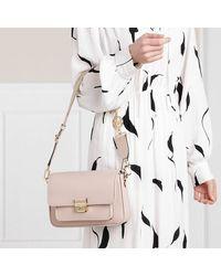 Michael Kors Bradshaw Messenger Handbag Leather - Naturel