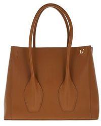 L'Autre Chose Tote Bags - Tote Bag Tresor - Cognac - Tote Bags For Ladies - Brown