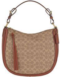 COACH Womens Bags Shoulder Bag Beige - Marron