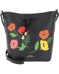 Lauren by Ralph Lauren - Dryden Drawstring Bag Black/multi Floral - Lyst