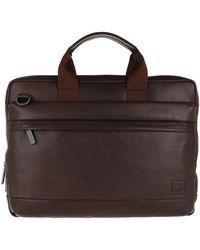 "Knomo Foster Briefcase Bag 14"" Brown"