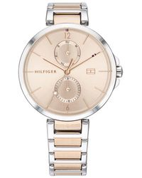 Tommy Hilfiger Multifunctional Watch Dressed 1782127 Silver/Rosegold - Métallisé