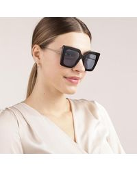 Gucci GG0435S-004 51 Sunglass Acetate - Blauw