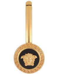 Versace Emblem Slide Nero/Oro - Métallisé
